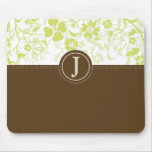 Simple Seagrass Monogrammed Mousepad