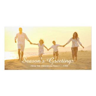 Simple Season's Greetings - Photo Card