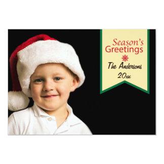 Simple Season's Greetings Photo Flat Cards