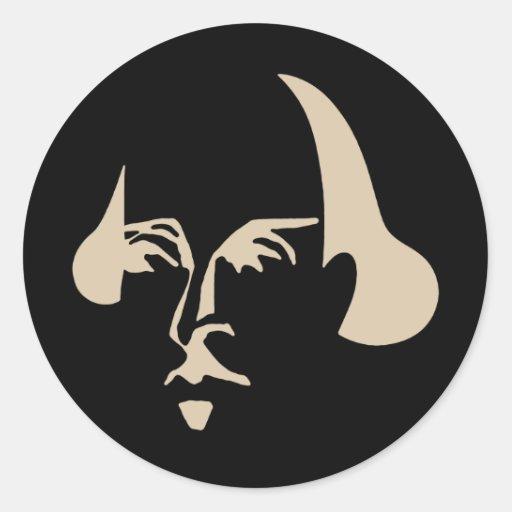 Simple Shakespeare Classic Round Sticker