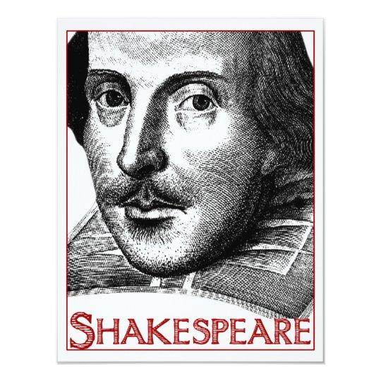 Simple Shakespeare Logo Card
