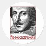 Simple Shakespeare Logo Classic Round Sticker