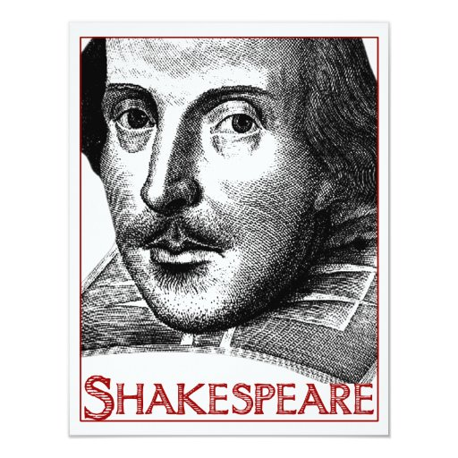 Simple Shakespeare Logo 4.25x5.5 Paper Invitation Card