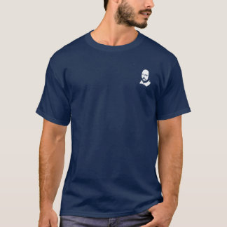 Simple Shakespeare Portrait Logo, Dark T-Shirt