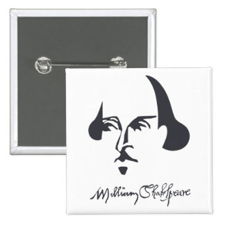 Simple Shakespeare with Signature Pinback Button