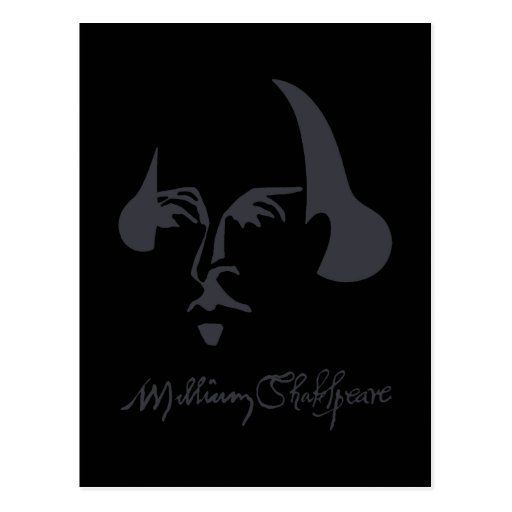 Simple Shakespeare with Signature Postcard