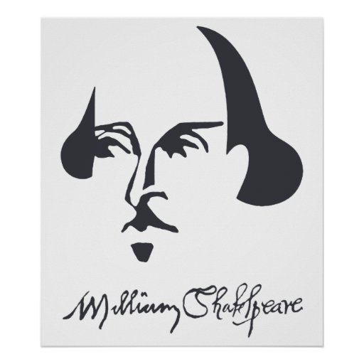Simple Shakespeare with Signature Poster