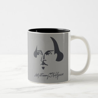 Simple Shakespeare with Signature Two-Tone Coffee Mug