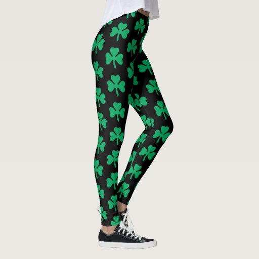 Simple Shamrock Pattern Leggings