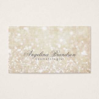 Simple Shimmering Cream Cosmetologist Card