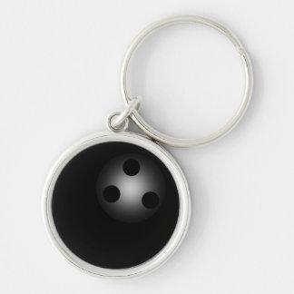 Simple Shiny Black Bowling Ball Bowlers Premium Keychain