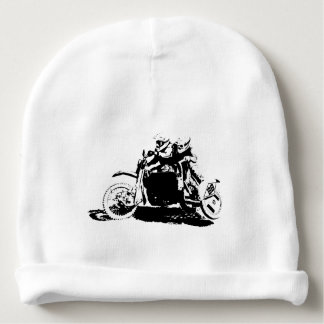 Simple Sidecarcross Design Baby Beanie
