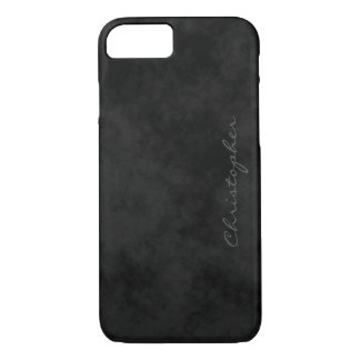 Simple Signature Mottled Black iPhone 7/7s iPhone 7 Case