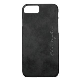 Simple Signature Mottled Black iPhone 7/7s iPhone 8/7 Case