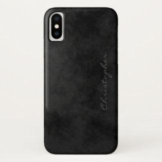 Simple Signature Mottled Black iPhone X iPhone X Case