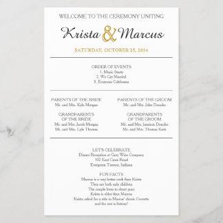 Simple Silhouettes Wedding Program