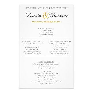 Simple Silhouettes Wedding Program