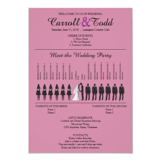 Simple Silhouettes Wedding Program Card