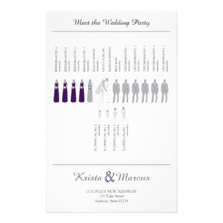 Simple Silhouettes Wedding Program Flyer