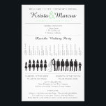 """Simple Silhouettes Wedding Program Flyer<br><div class=""""desc"""">Wedding Program featuring Wedding Party Silhouettes in Black. and any accent color. Simply contact seller to have more wedding party silhouettes added,  or to request a color change. When making your request,  please include the Zazzle color code(s) you prefer.</div>"""