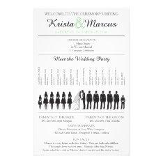 Simple Silhouettes Wedding Program Flyer at Zazzle