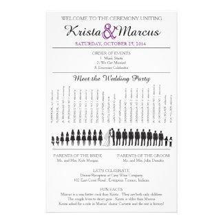 Simple Silhouettes Wedding Program Flyer-11