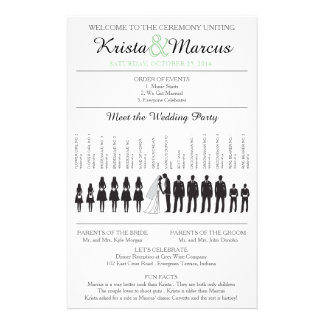 Simple Silhouettes Wedding Program Flyer-12