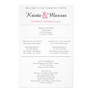 Simple Silhouettes Wedding Program Flyer-14