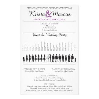 Simple Silhouettes Wedding Program Flyer-15