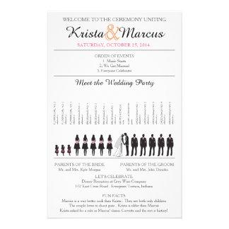 Simple Silhouettes Wedding Program Flyer-2
