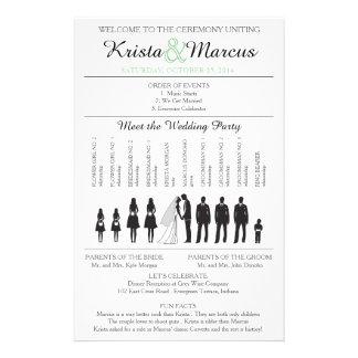 Simple Silhouettes Wedding Program Flyer-2B