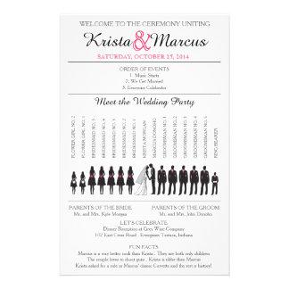 Simple Silhouettes Wedding Program Flyer-3