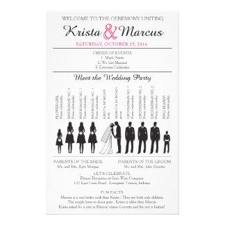 Simple Silhouettes Wedding Program Flyer-3RF