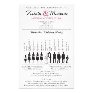 Simple Silhouettes Wedding Program Flyer-4