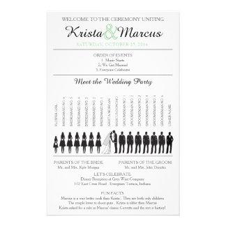 Simple Silhouettes Wedding Program Flyer-5