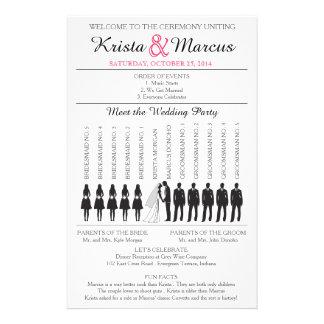 Simple Silhouettes Wedding Program Flyer-5B