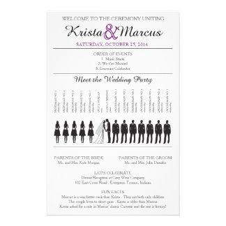 Simple Silhouettes Wedding Program Flyer-6