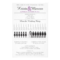 Simple Silhouettes Wedding Program Flyer-6 at Zazzle