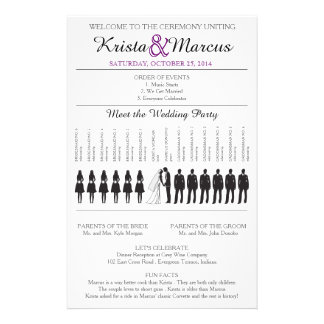 "Simple Silhouettes Wedding Program Flyer-6 5.5"" X 8.5"" Flyer"