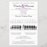 """Simple Silhouettes Wedding Program Flyer-7<br><div class=""""desc"""">Wedding Program featuring Wedding Party Silhouettes for Man of Honor,  5 bridesmaids,  flower girl,  6 groomsmen and ring bearer. Simply contact seller to have more wedding party lineup changed,  or to request a color change. When making your request,  please include the Zazzle color code(s) you prefer.</div>"""