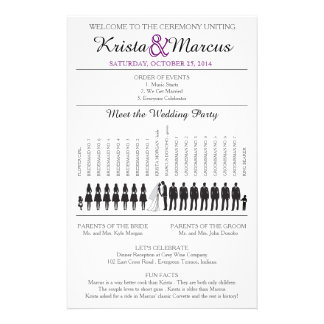 Simple Silhouettes Wedding Program Flyer-7T