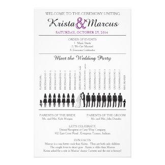 Simple Silhouettes Wedding Program Flyer-7T