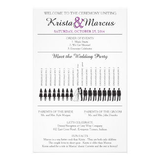Simple Silhouettes Wedding Program Flyer-8