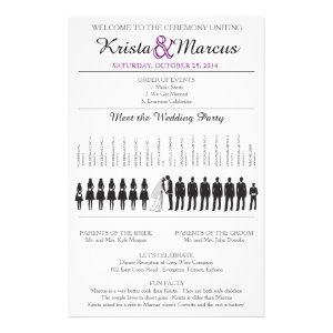 Simple Silhouettes Wedding Program Flyer-9