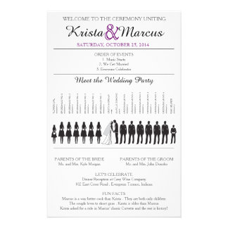 "Simple Silhouettes Wedding Program Flyer-9 5.5"" X 8.5"" Flyer"
