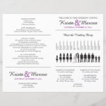 """Simple Silhouettes Wedding Program Flyer - FAN<br><div class=""""desc"""">Wedding Program featuring Wedding Party Silhouettes in Black and any accent color. Simply contact seller to adjust the wedding party silhouettes to fit your lineup,  or to request a color change. When making your request,  please include the Zazzle color code(s) you prefer.</div>"""