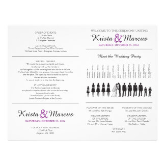 Simple Silhouettes Wedding Program Flyer - FAN