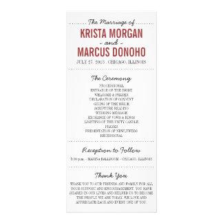Simple Silhouettes Wedding Program Rack Card 3