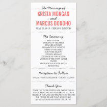 Simple Silhouettes Wedding Program Rack Card 7