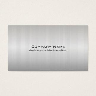 Simple Silver Brushed Metal Look Business Card